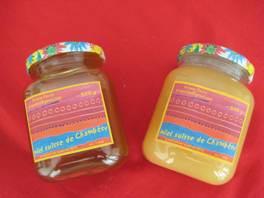 miel liquide et crémeux